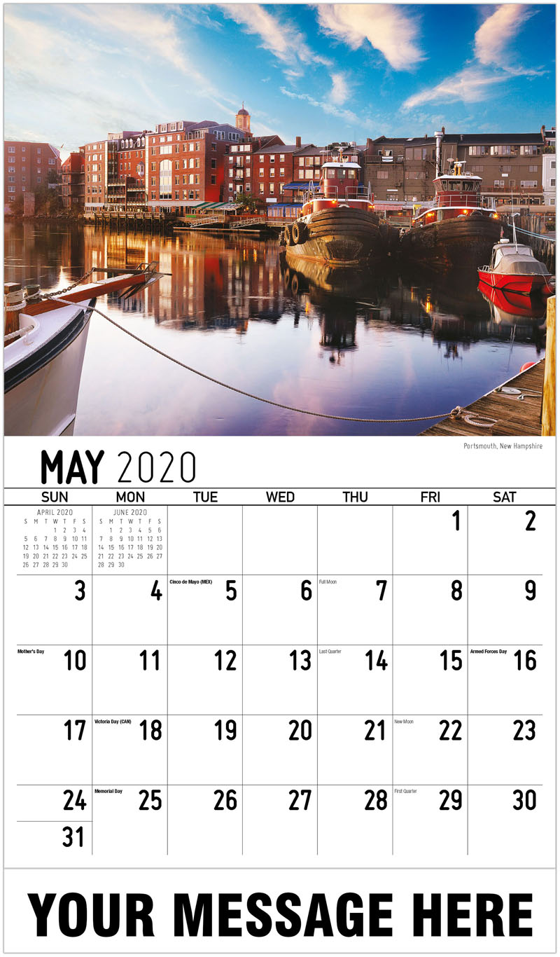 2020 Promotional Calendar - Portsmouth, New Hampshire - May