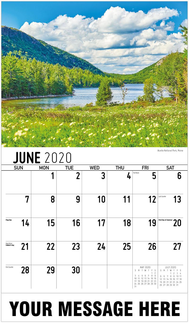 2020 Promotional Calendar - Acadia National Park, Maine - June