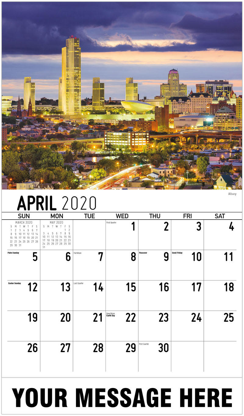2020 Promotional Calendar - Albany - April