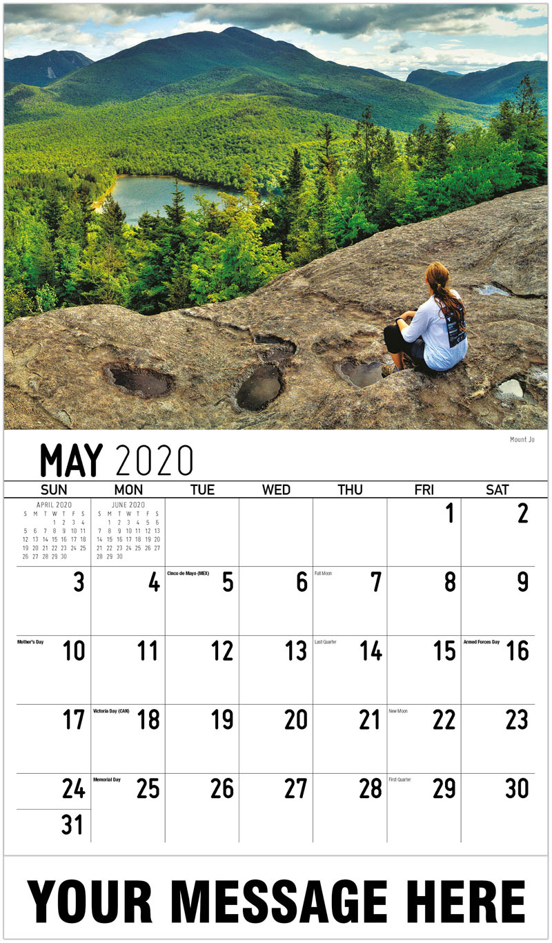 2020 Promotional Calendar - Mount Jo - May
