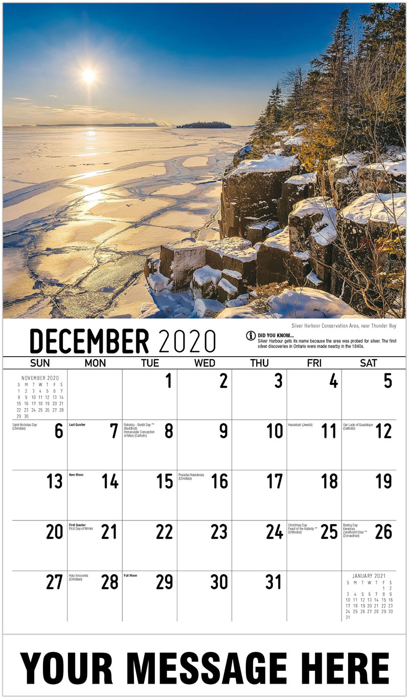 2020 Advertising Calendar - Silver Harbour Conservation Area, Near Thunder Bay - December_2020