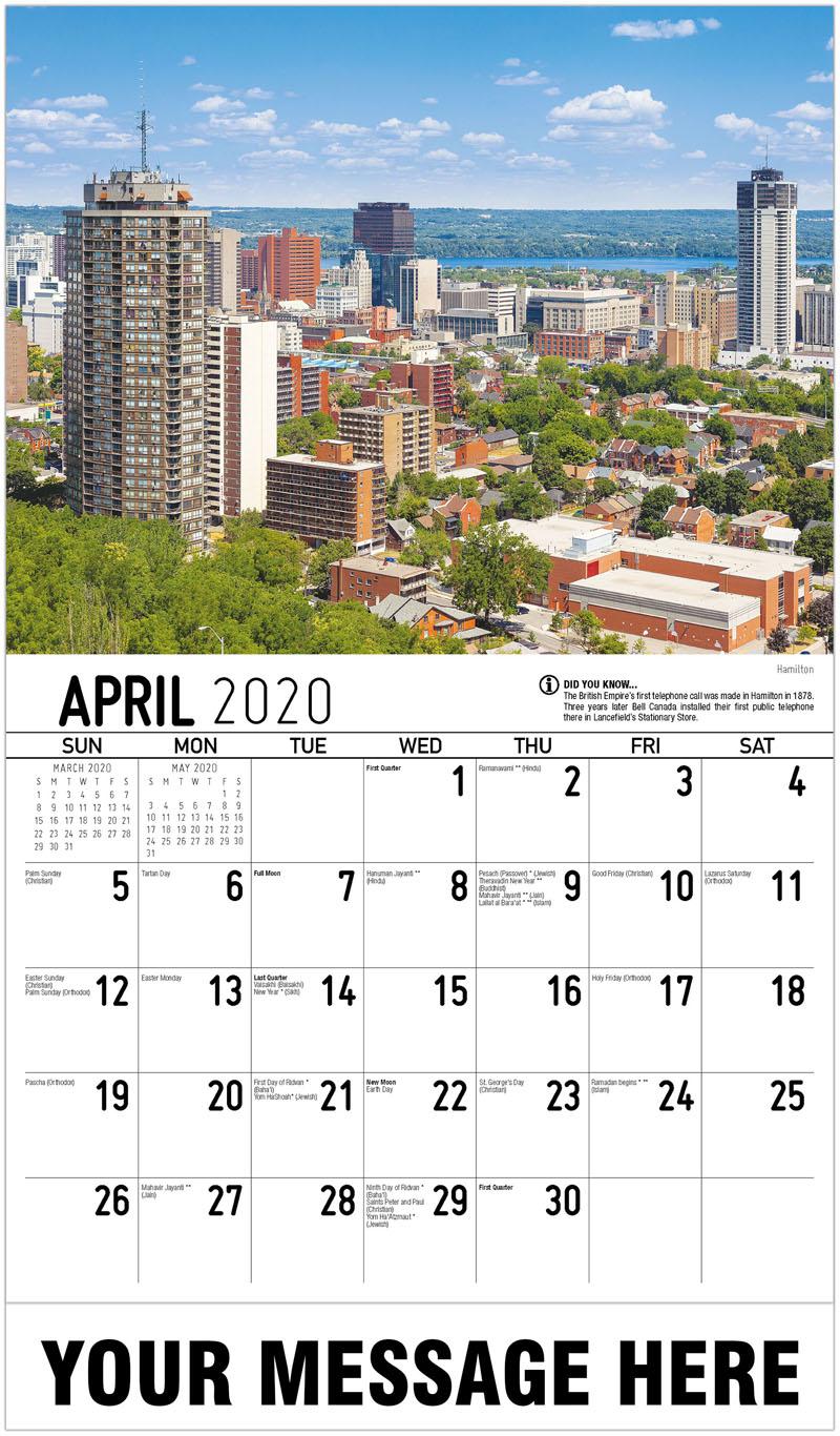 2020 Promo Calendar - Hamilton - April