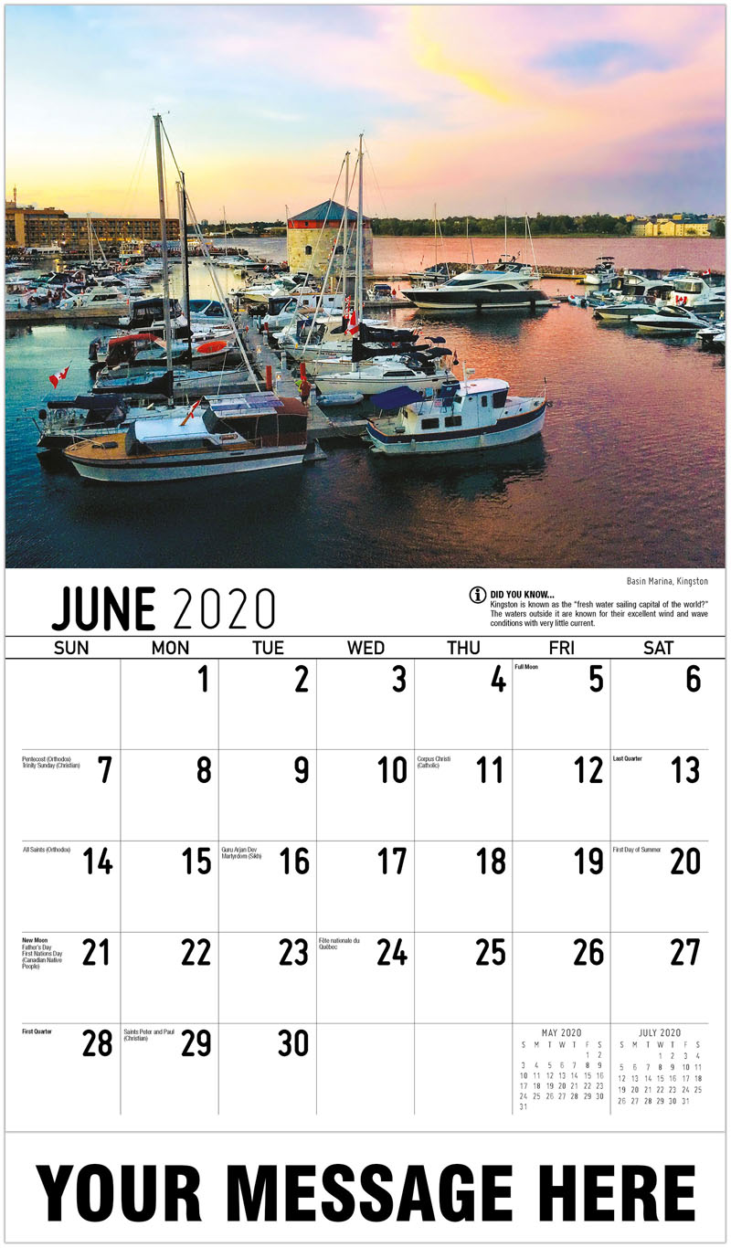 2020 Promo Calendar - Basin Marina, Kingston - June