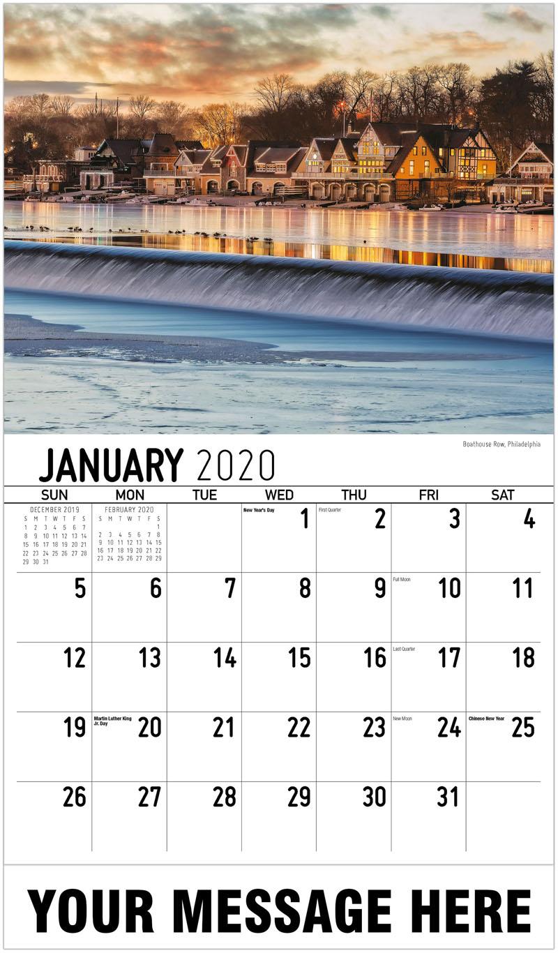 2020 Advertising Calendar - Boathouse Row, Philadelphia - January