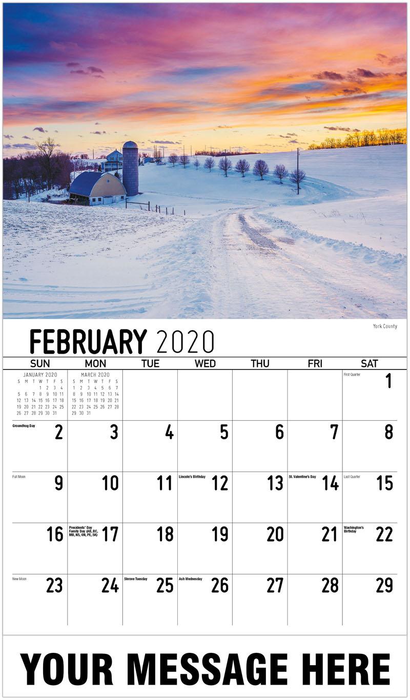 2020 Advertising Calendar - York County - February