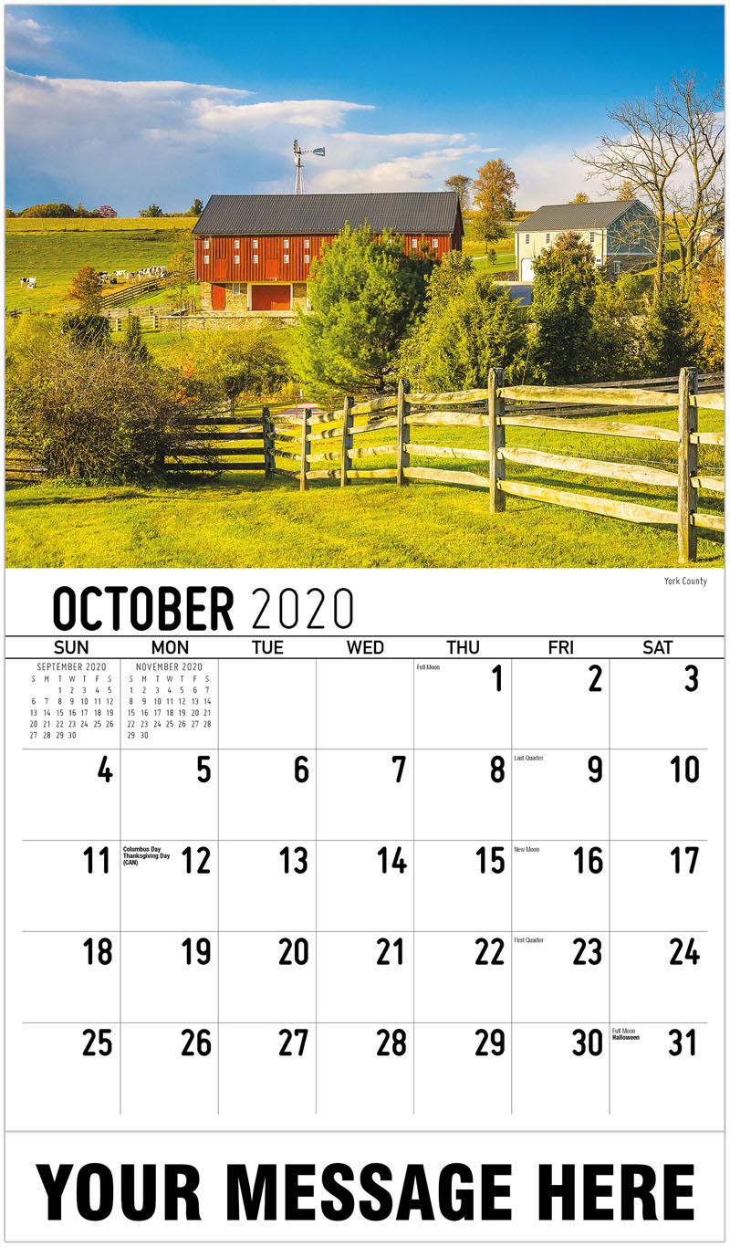 2020 Promo Calendar - York County - October