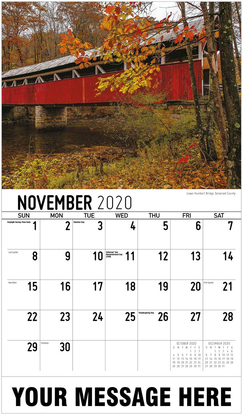2020 Promo Calendar - Lower Humbert Bridge, Somerset County - November