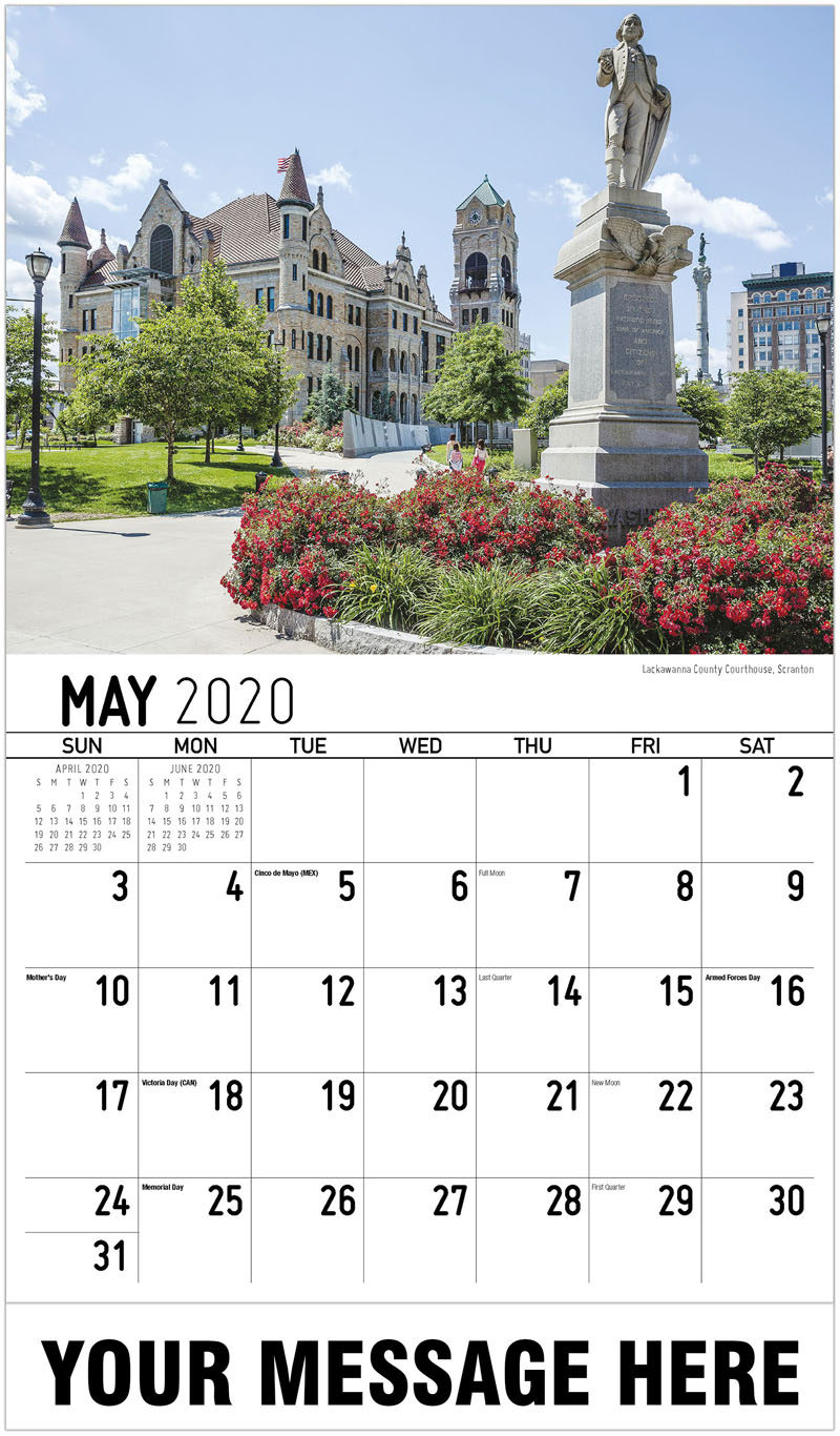 2020 Promotional Calendar - Lackawanna County Courthouse, Scranton - May
