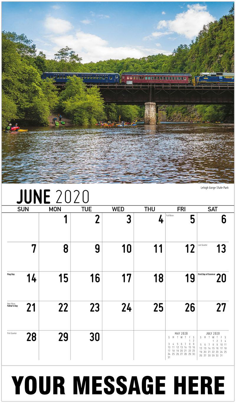 2020 Promotional Calendar - Lehigh Gorge State Park - June