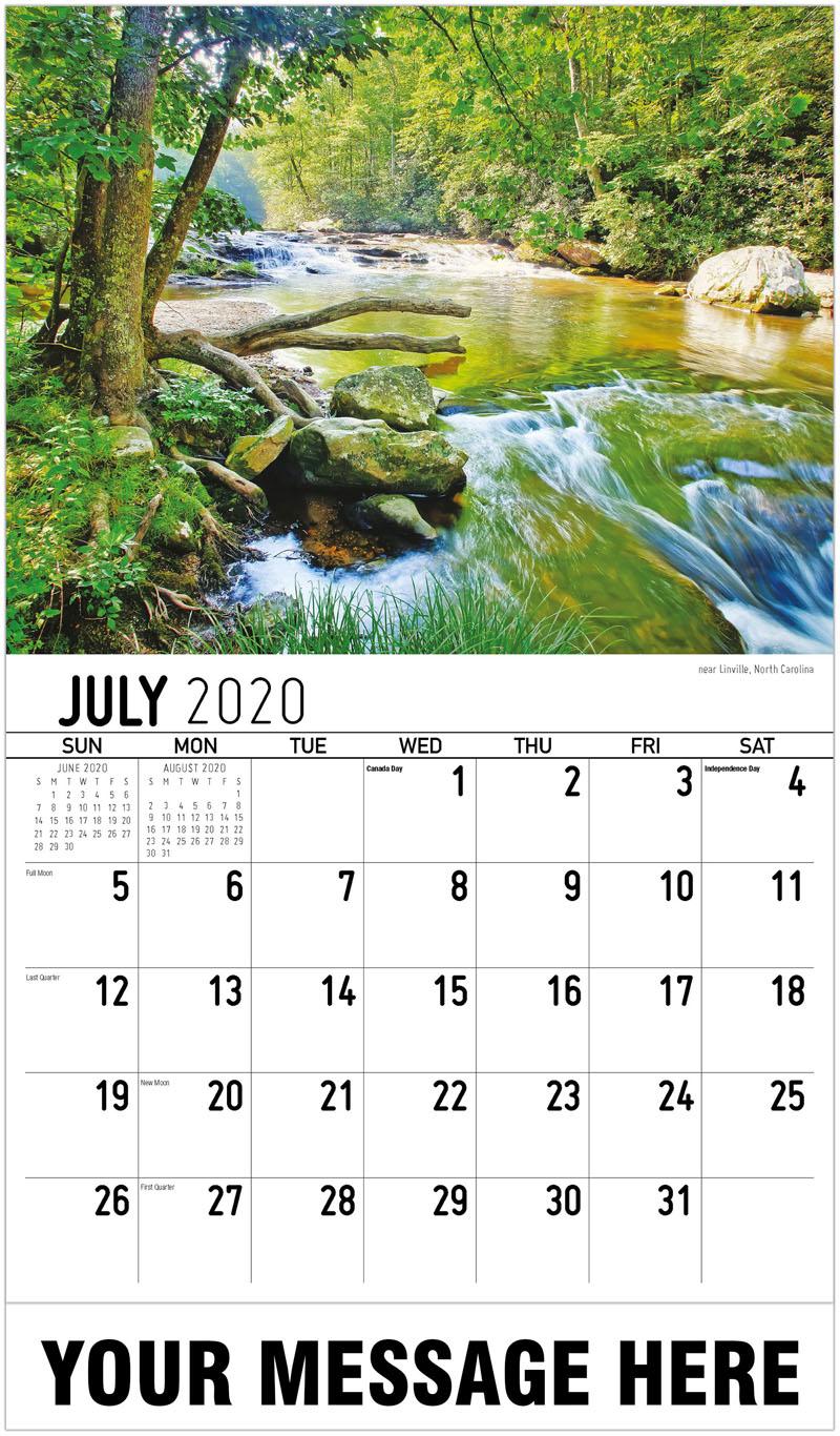 2020 Business Advertising Calendar - Near Linville, North Carolina - July