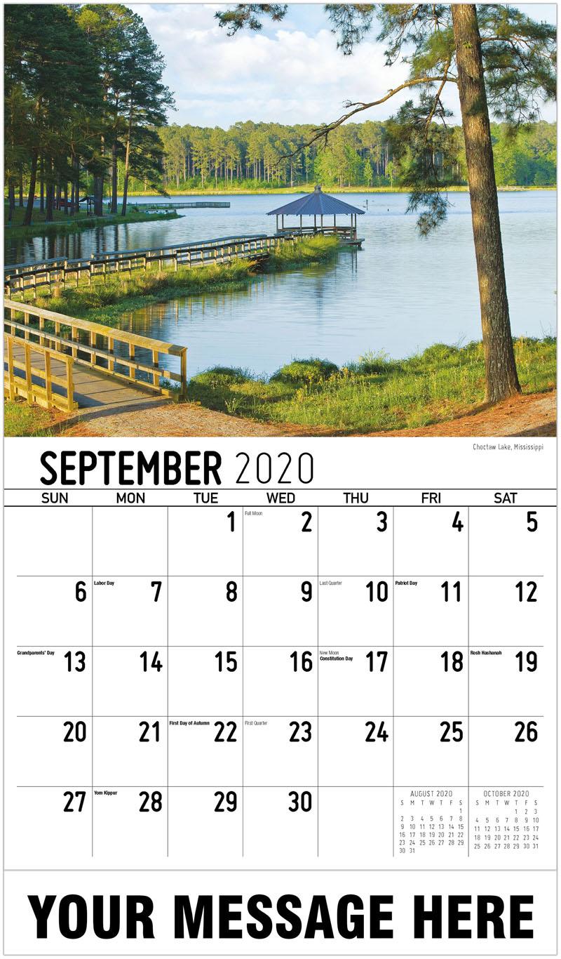 2020 Business Advertising Calendar - Choctaw Lake, Mississippi - September