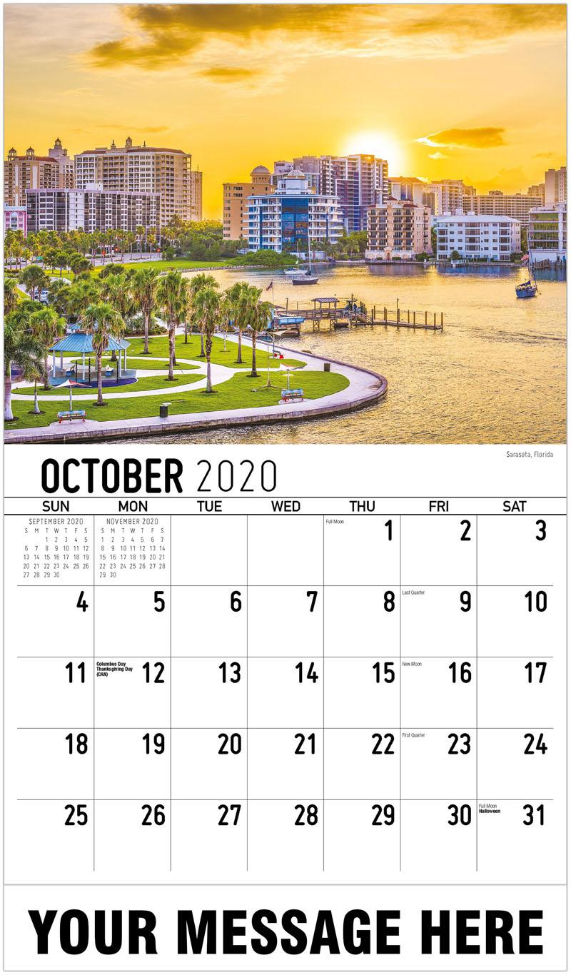 2020 Business Advertising Calendar - Sarasota, Florida - October