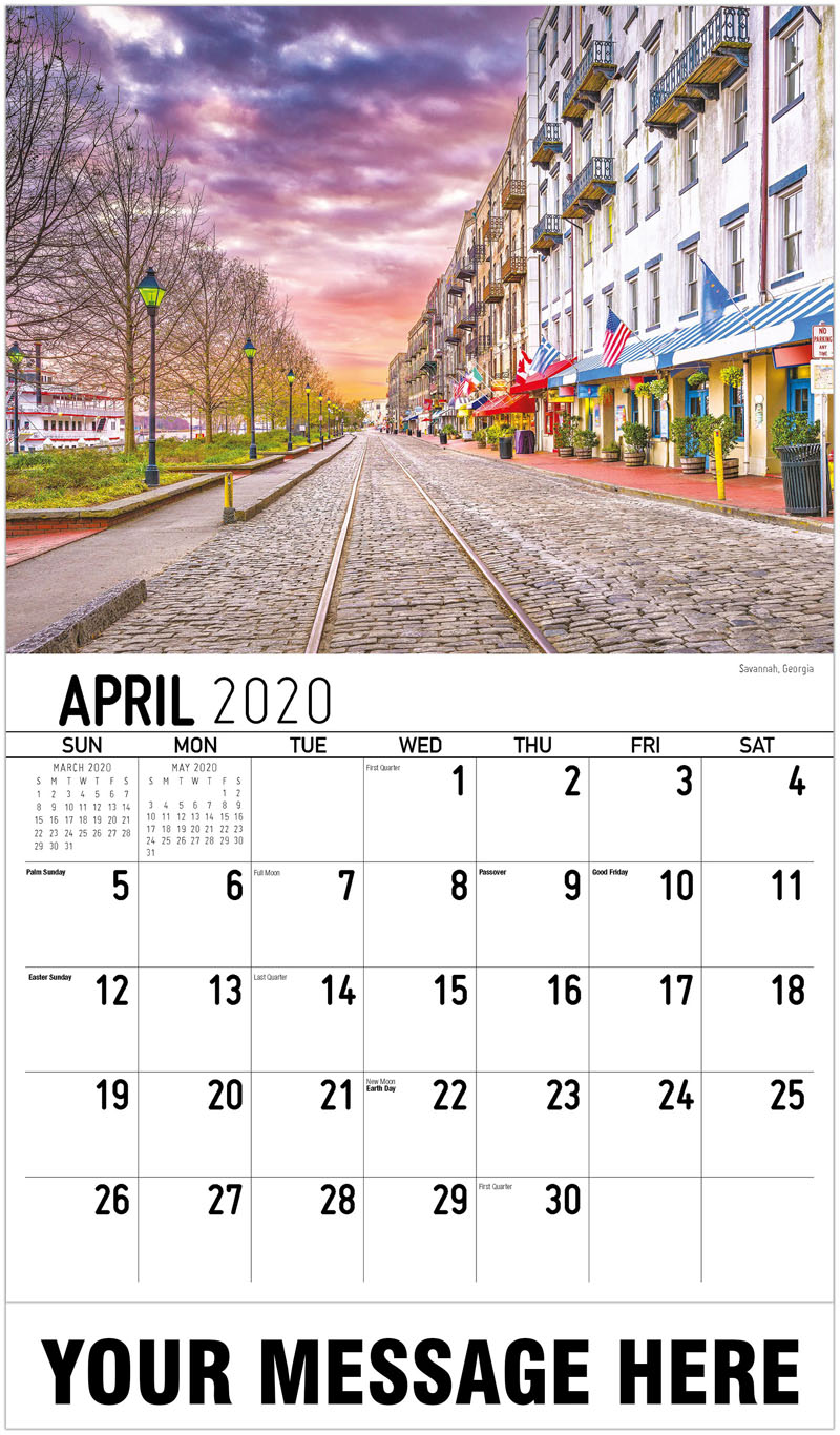 2020 Promo Calendar - Langles Bridge, New Orleans, Louisiana - April