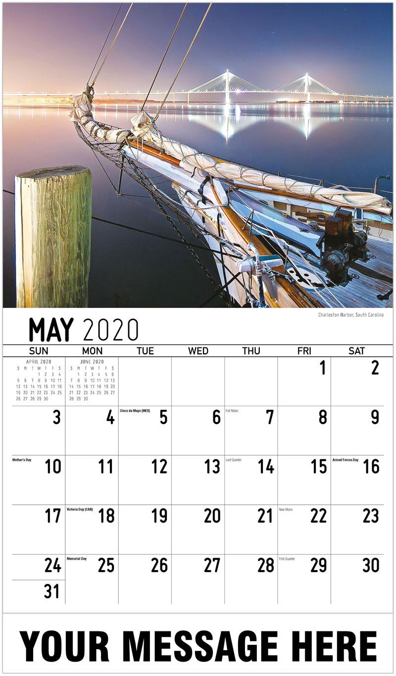 2020 Promo Calendar - Charleston Harbor, South Carolina - May