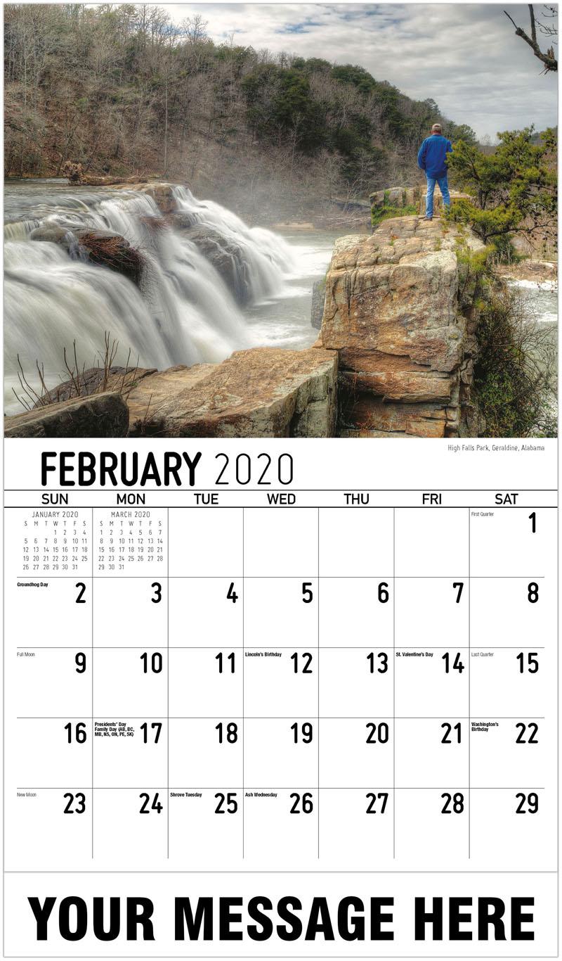 2020 Promotional Calendar - High Falls Park, Geraldine, Alabama - February
