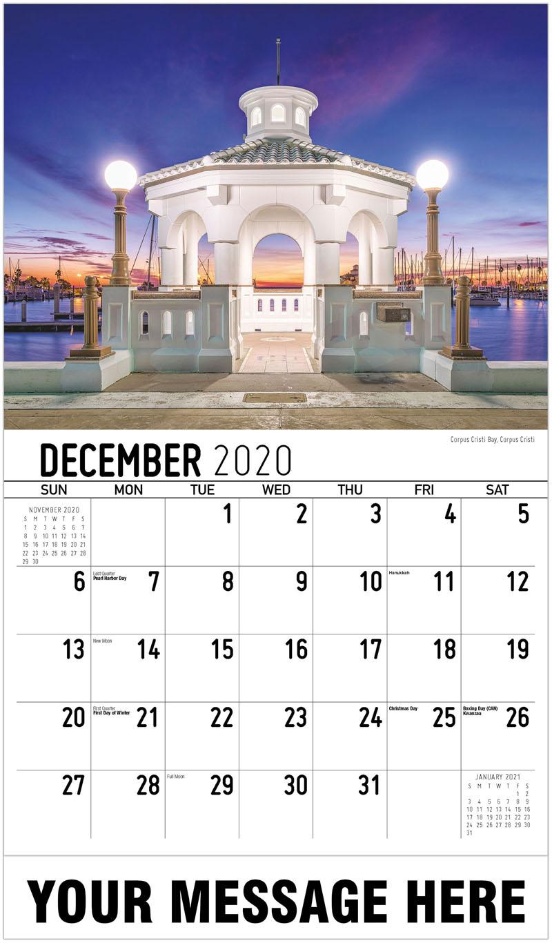 2020 Advertising Calendar - Corpus Cristi Bay, Corpus Cristi - December_2020