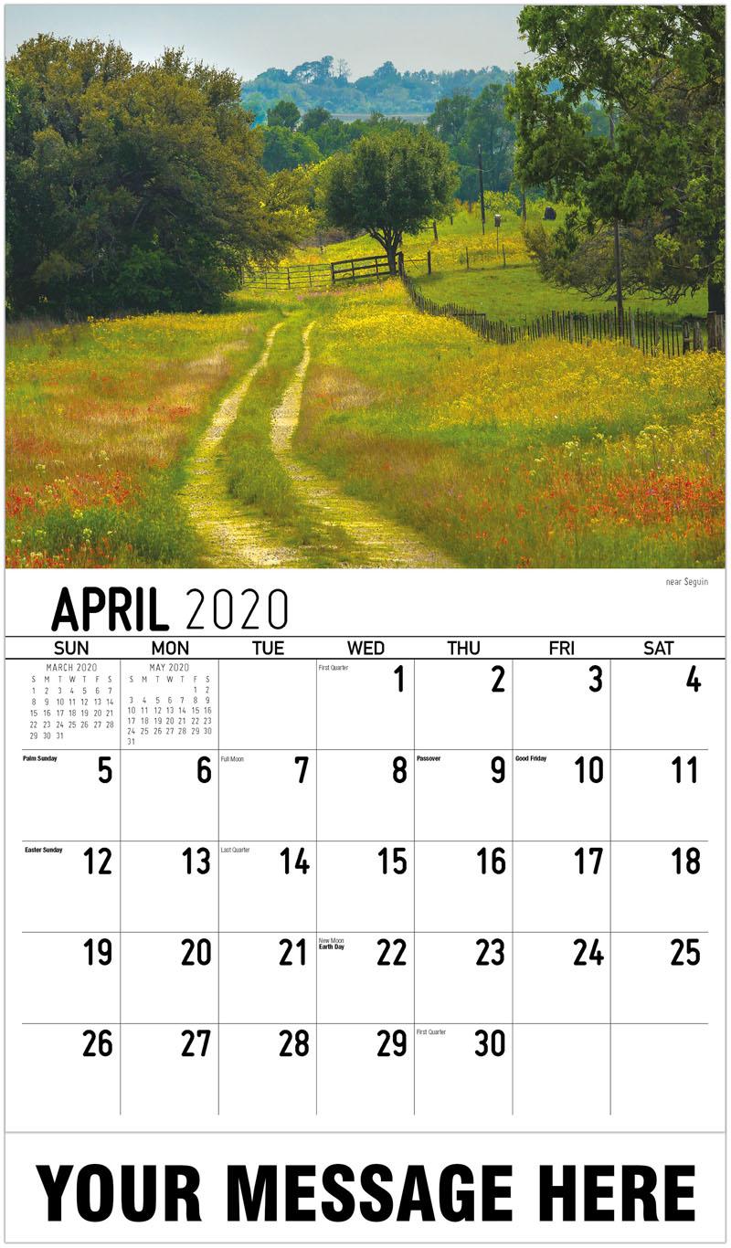 2020 Promo Calendar - Near Seguin - April