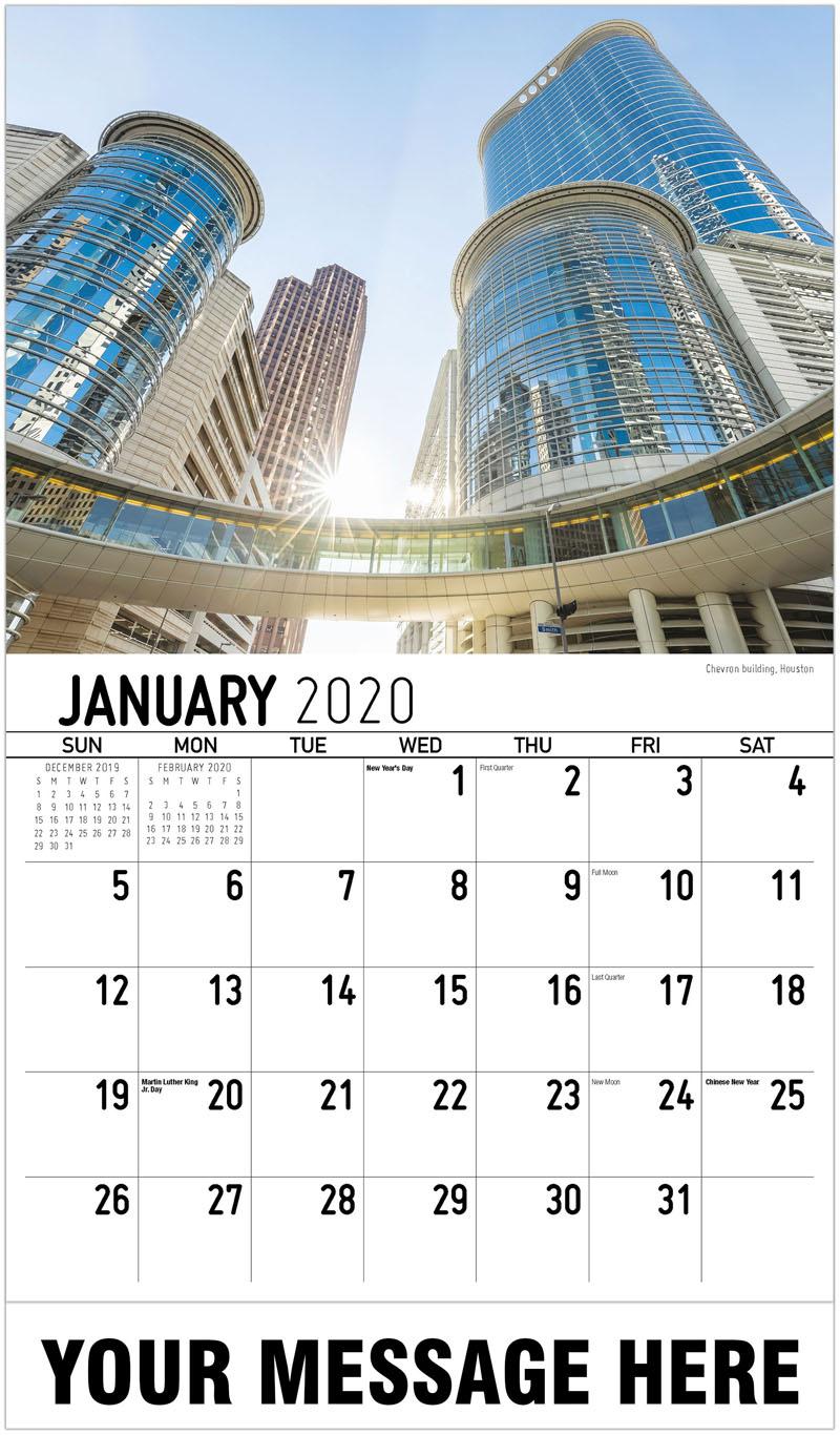 2020 Promotional Calendar - Chevron Building, Houston - January