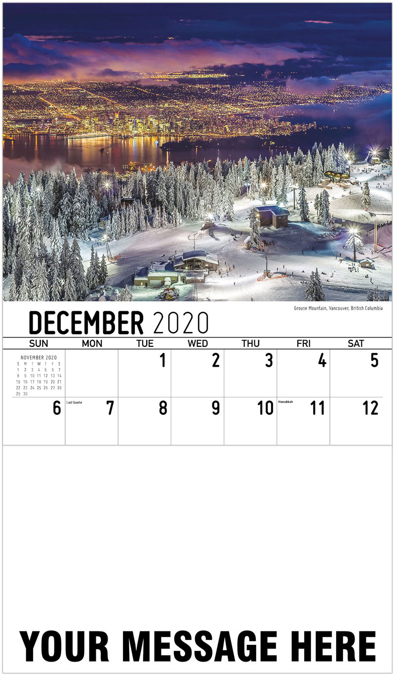 2020 Advertising Calendar - Grouse Mountain, Vancouver, British Columbia - December_2020