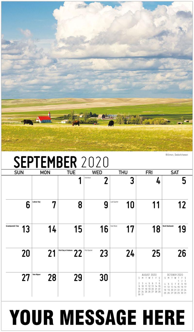 2020 Business Advertising Calendar - Billimun, Saskatchewan - September