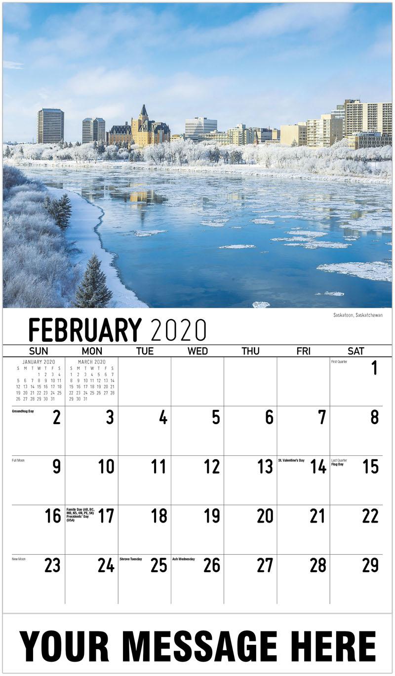 2020 Promo Calendar - Saskatoon, Saskatchewan - February