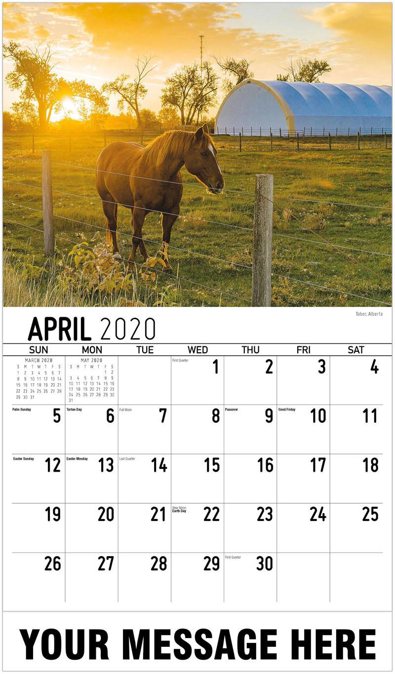 2020 Promotional Calendar - Taber, Alberta - April