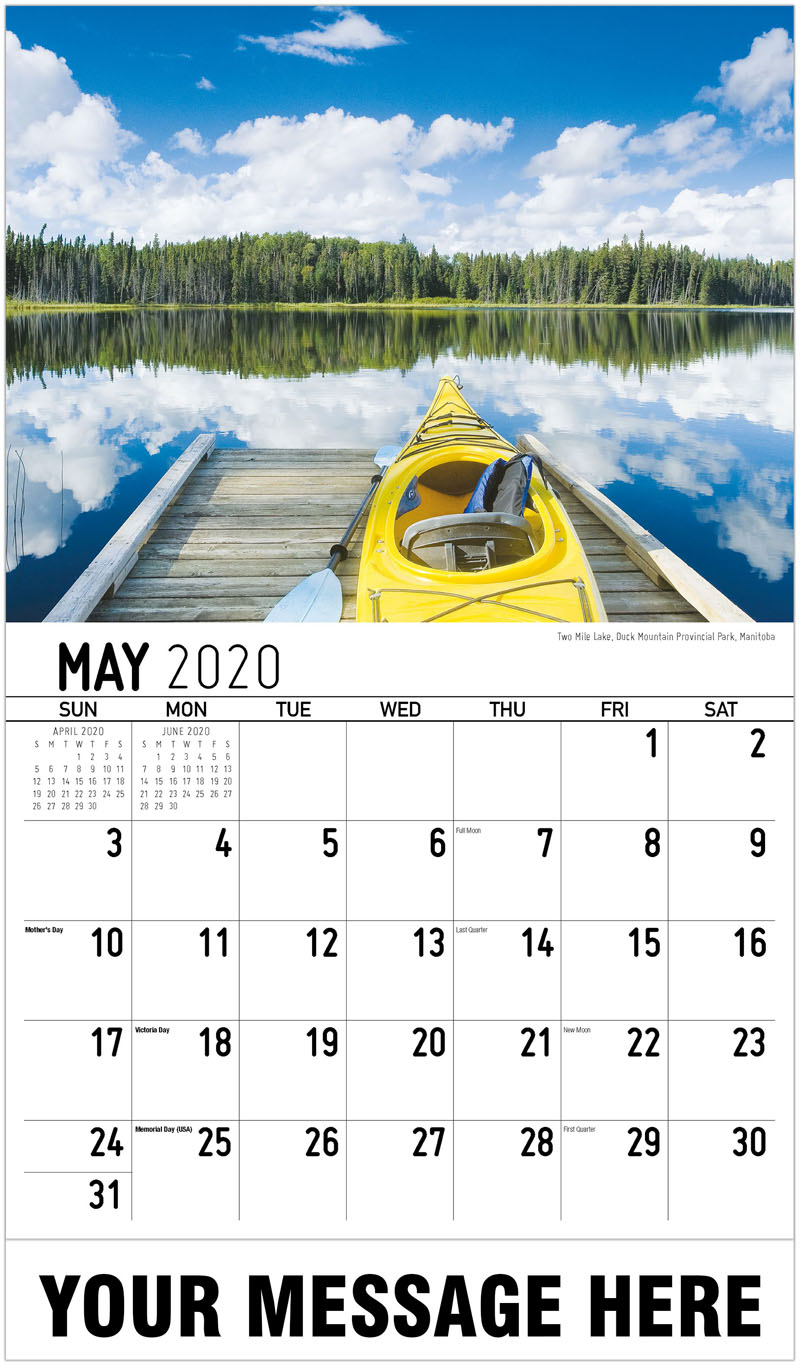 2020 Promotional Calendar - Two Mile Lake, Duck Mountain Provincial Park, Manitoba - May
