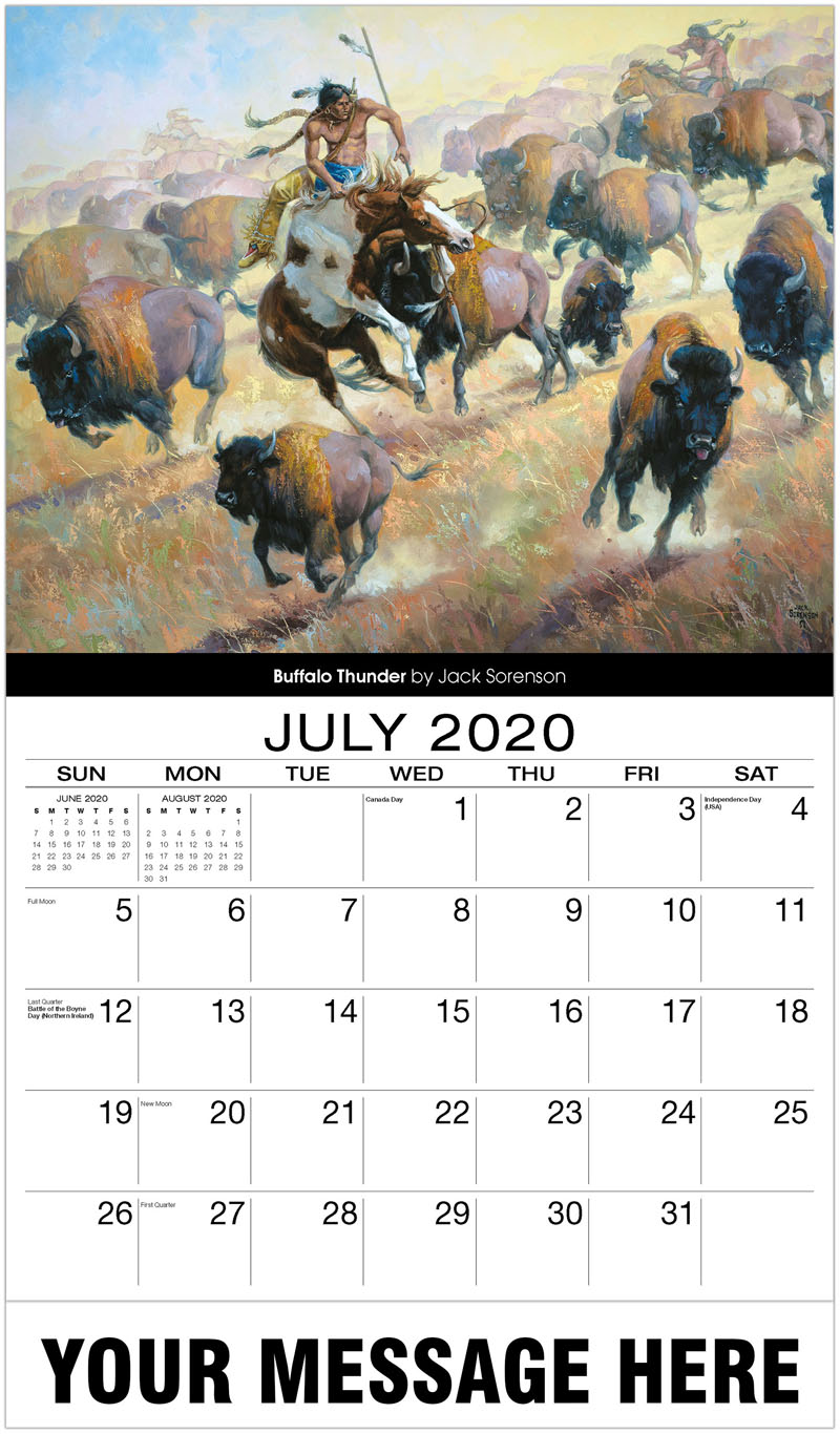 2020 Business Advertising Calendar - Buffalo Thunder By Jack Sorenson - July