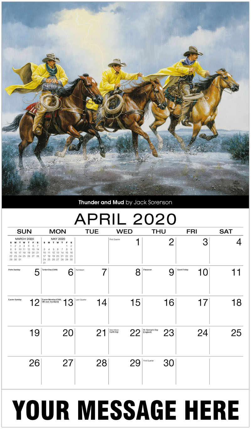 2020 Promo Calendar - Thunder And Mud By Jack Sorenson - April