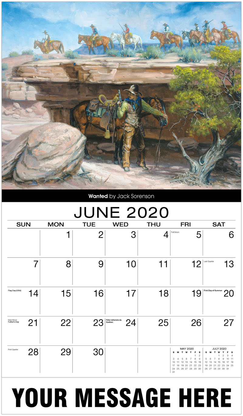 2020 Promo Calendar - Wanted By Jack Sorenson - June