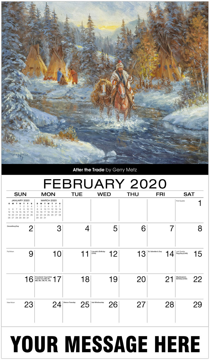 2020 Promotional Calendar - After The Trade By Gerry Metz - February