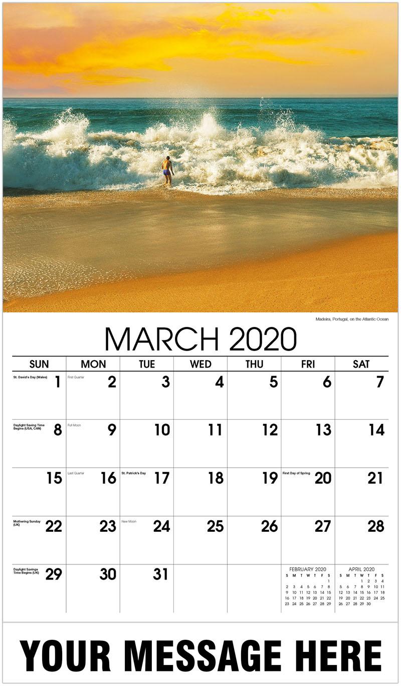2020 Promo Calendar - Madeira, Portugal, On The Atlantic Ocean - March