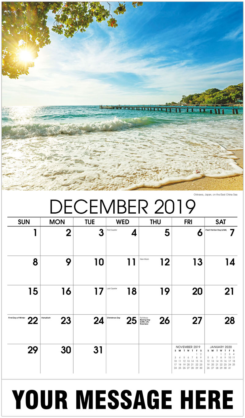 2020 Promotional Calendar - Okinawa, Japan, On The East China Sea - December_2019