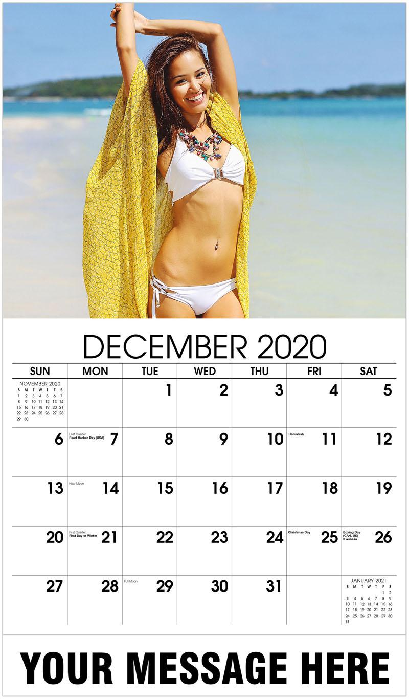 2020 Advertising Calendar - White Bikini - December_2020