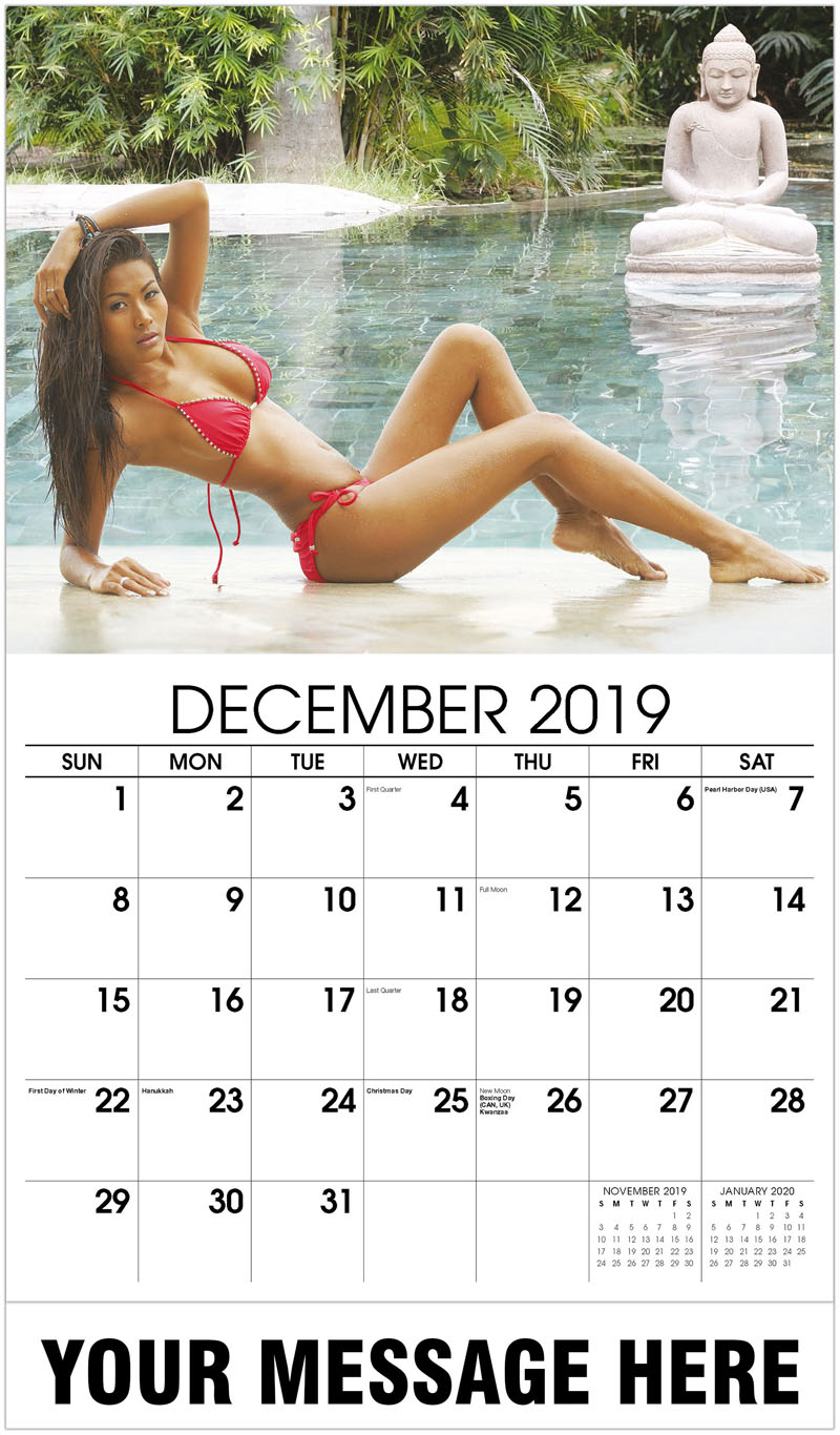 2020 Business Advertising Calendar - Red Bikini - December_2019
