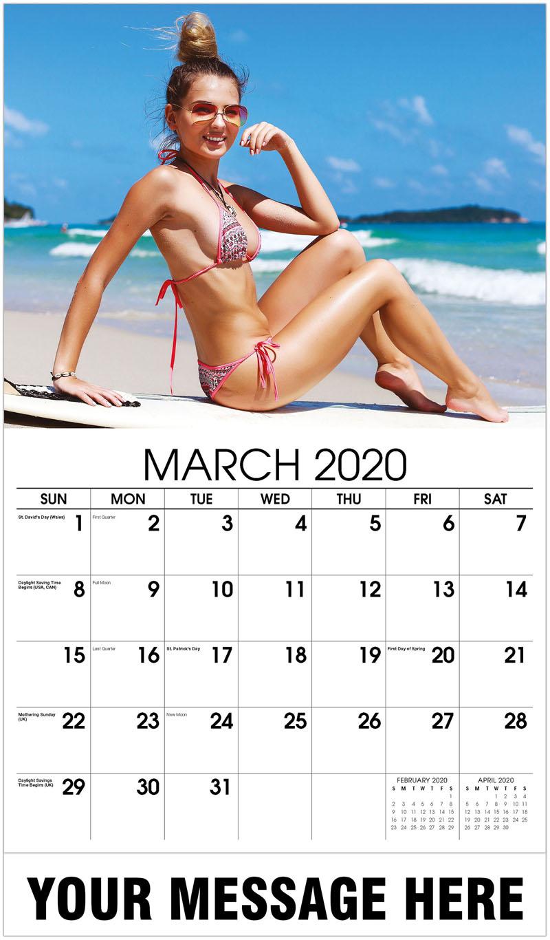 2020 Promotional Calendar - Pattern String Bikini - March