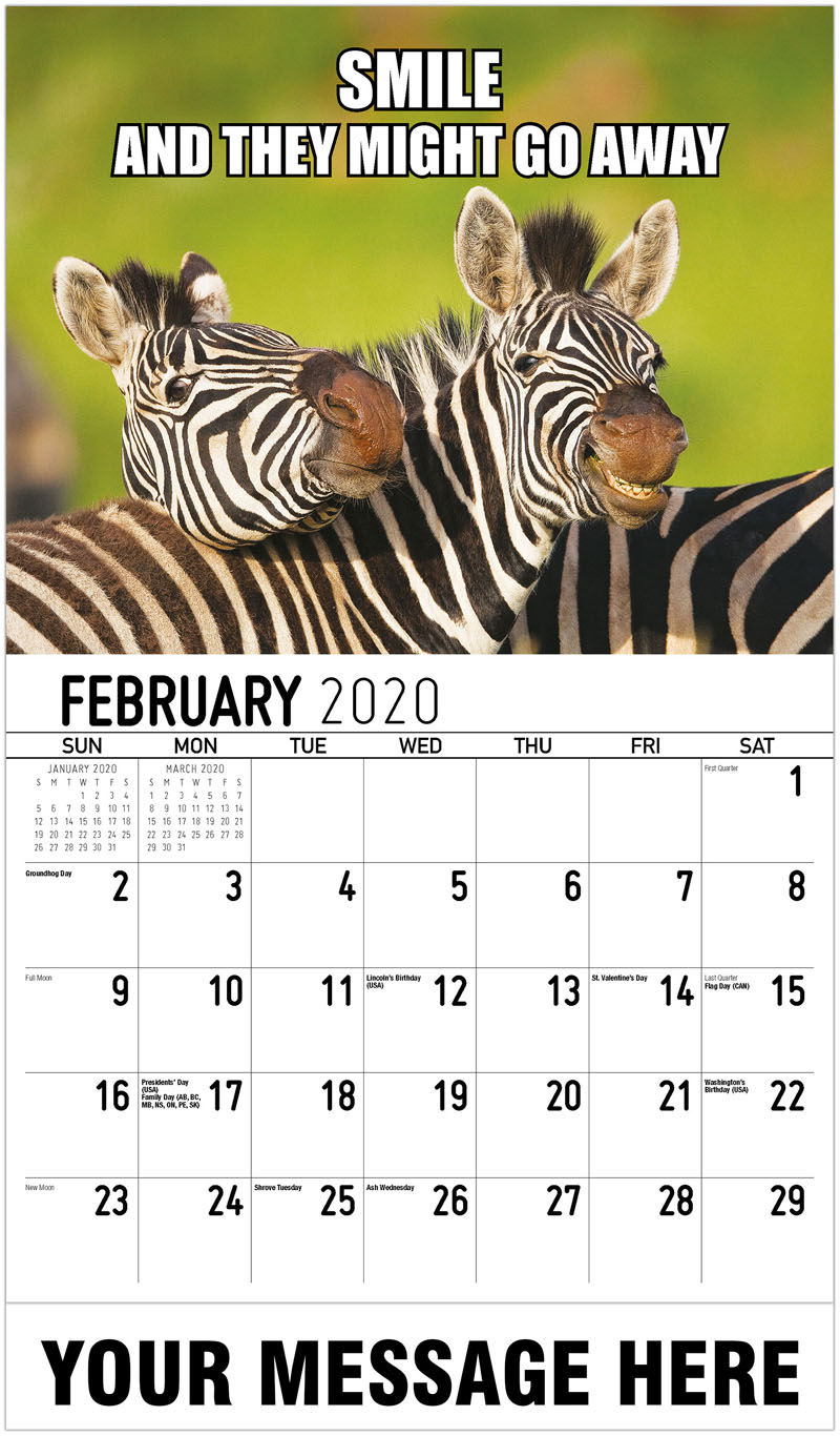 2020 Promo Calendar - Smile And They Might Go Away - February