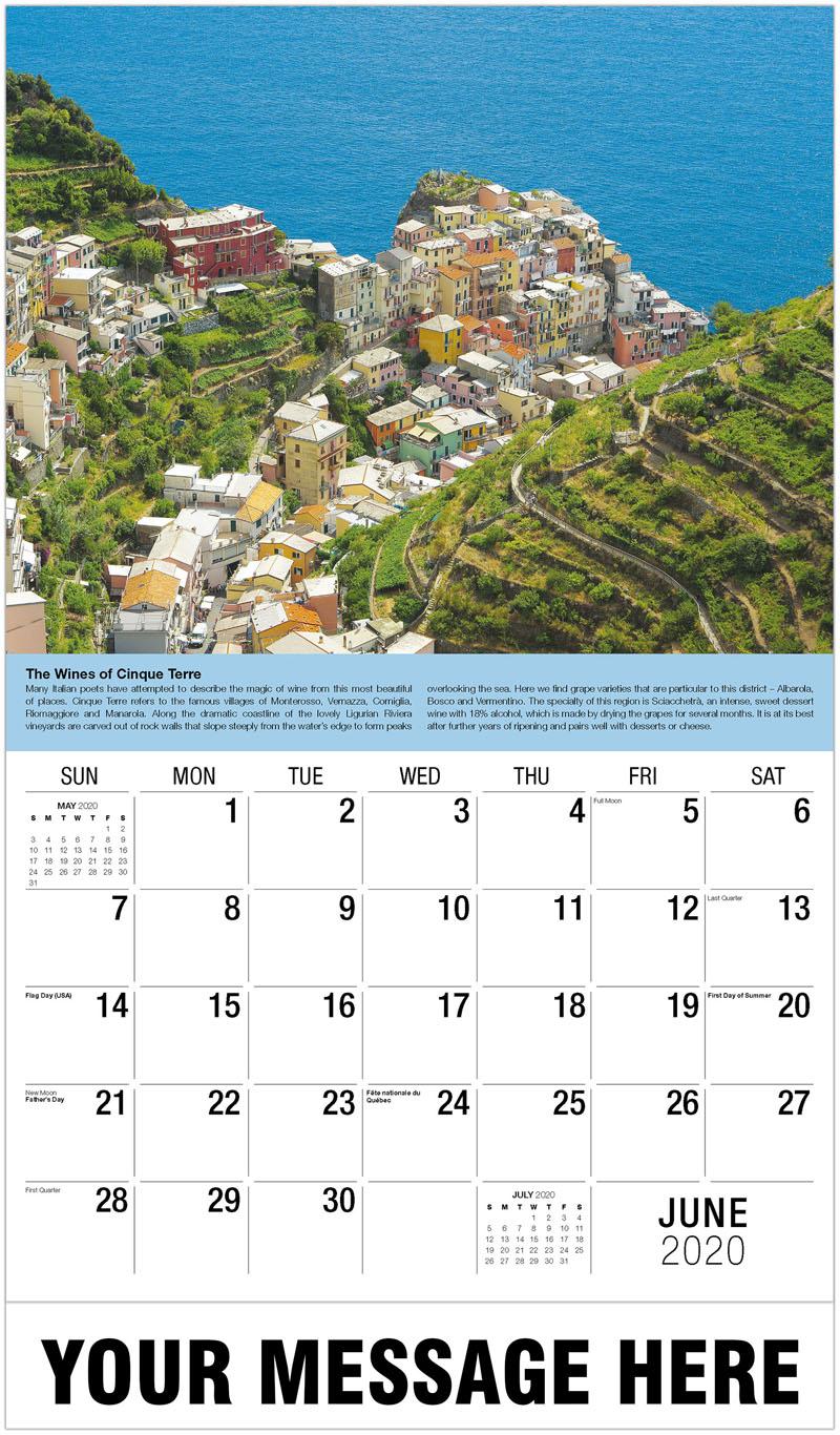 2020 Promo Calendar - Cinque Terra, Italy - June