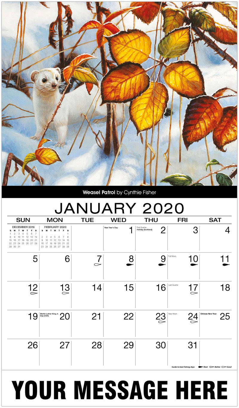 2020 Advertising Calendar - Weasel Patrol - January