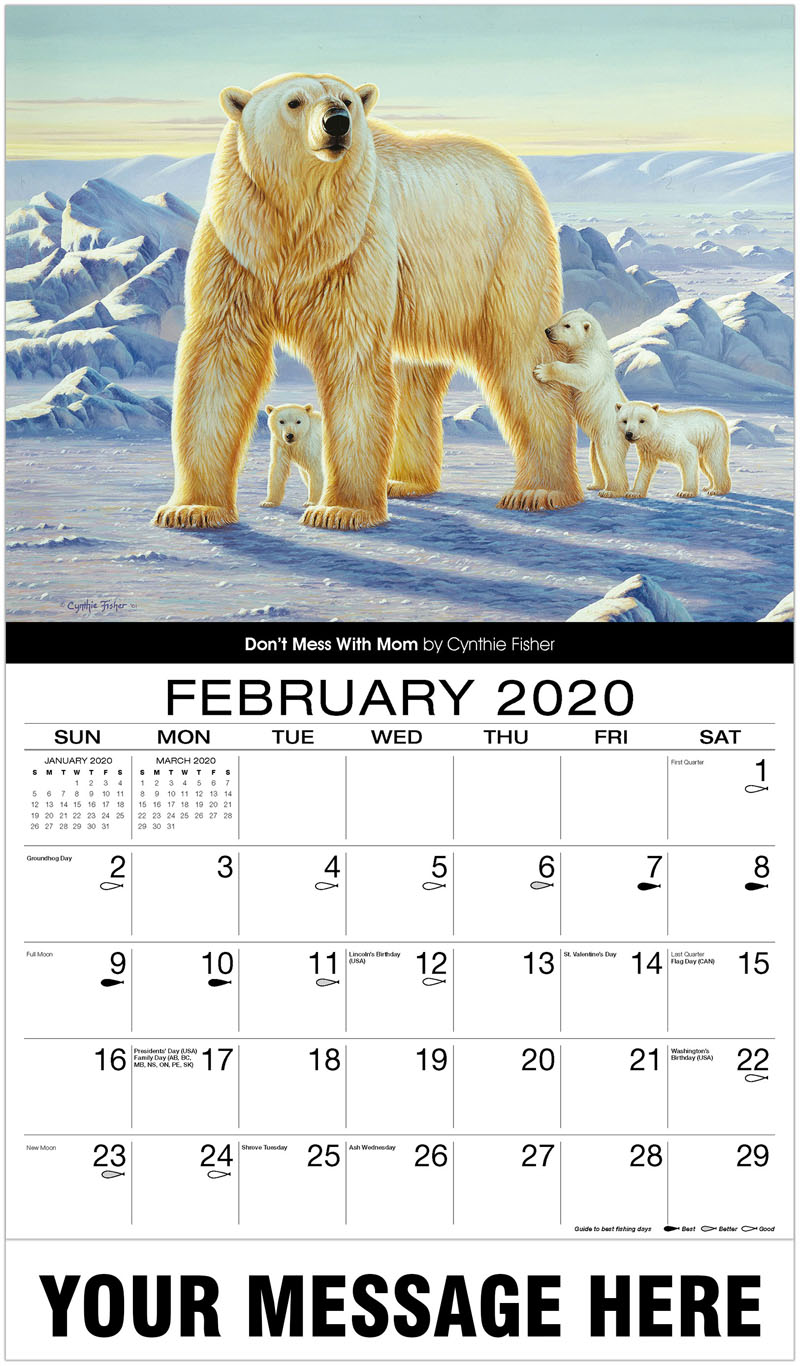 2020 Advertising Calendar - Don'T Mess With Mom - February