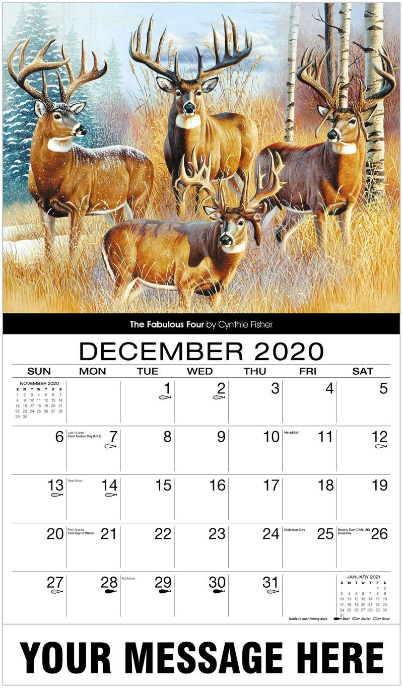 2020 Promo Calendar - The Fabulous Four - December_2020