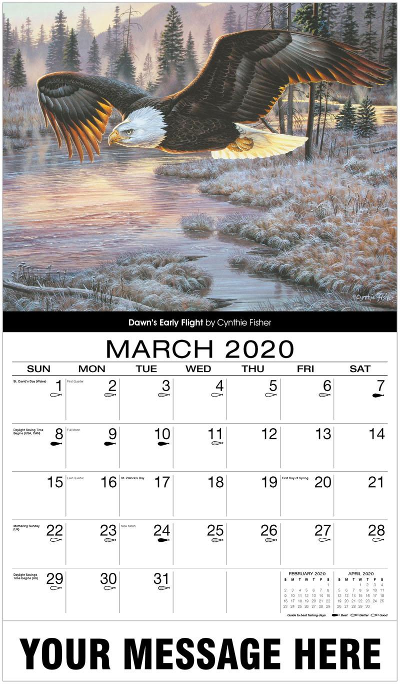 2020 Promotional Calendar - Dawn'S Early Flight - March