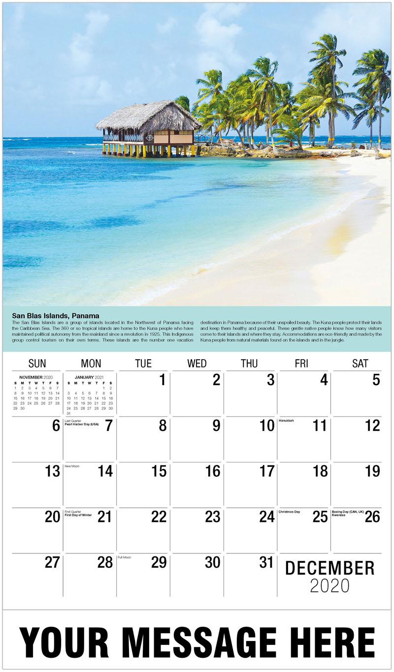 2020 Advertising Calendar - San Blas Islands, Panama - December_2020