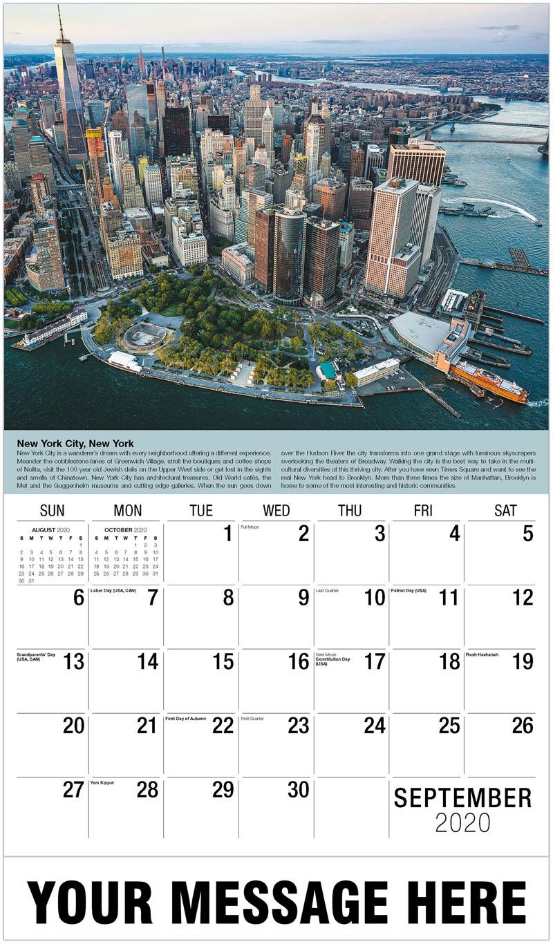 2020 Business Advertising Calendar - New York, New York - September