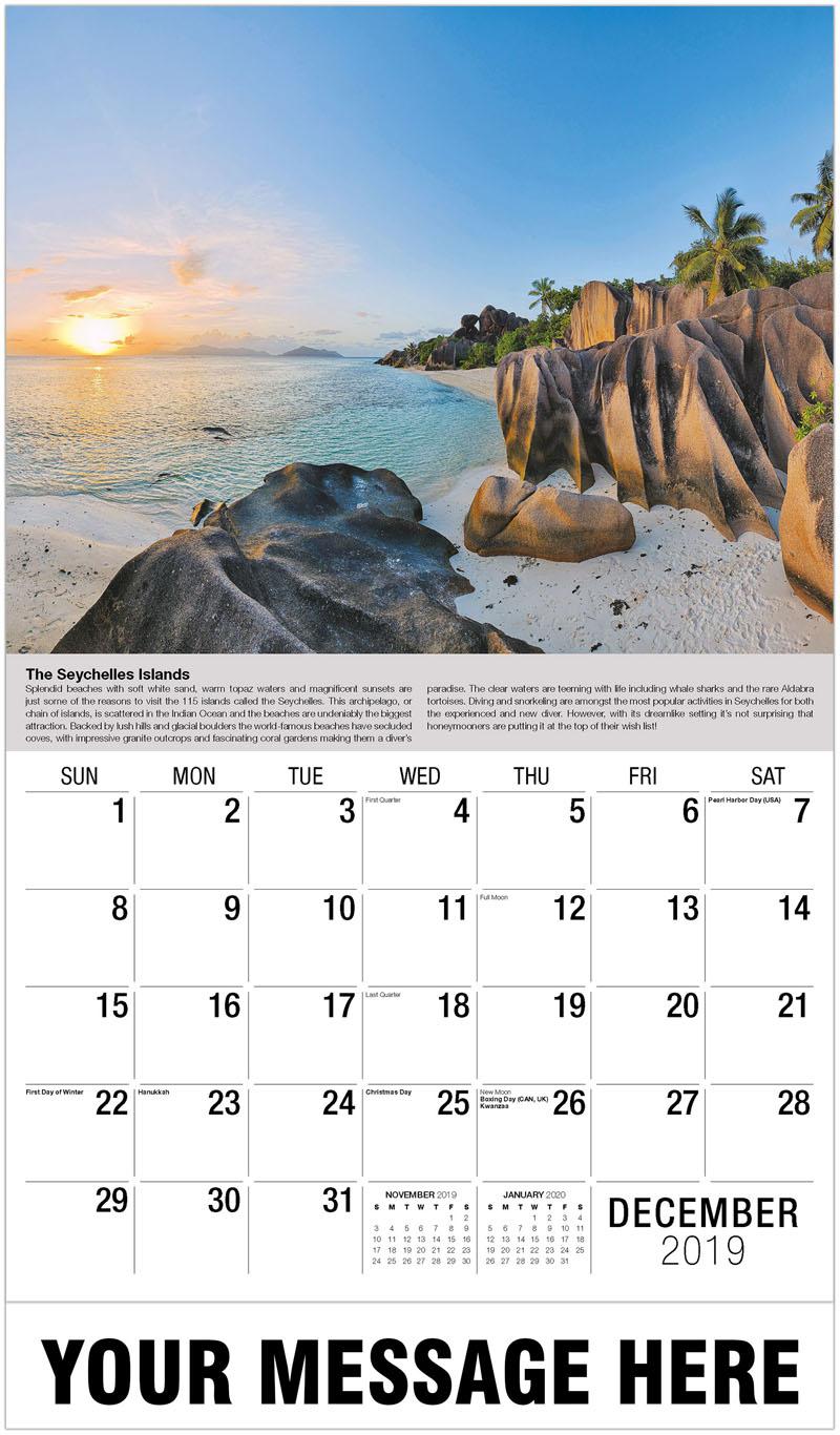 2020 Promo Calendar - The Seychelle Islands - December_2019