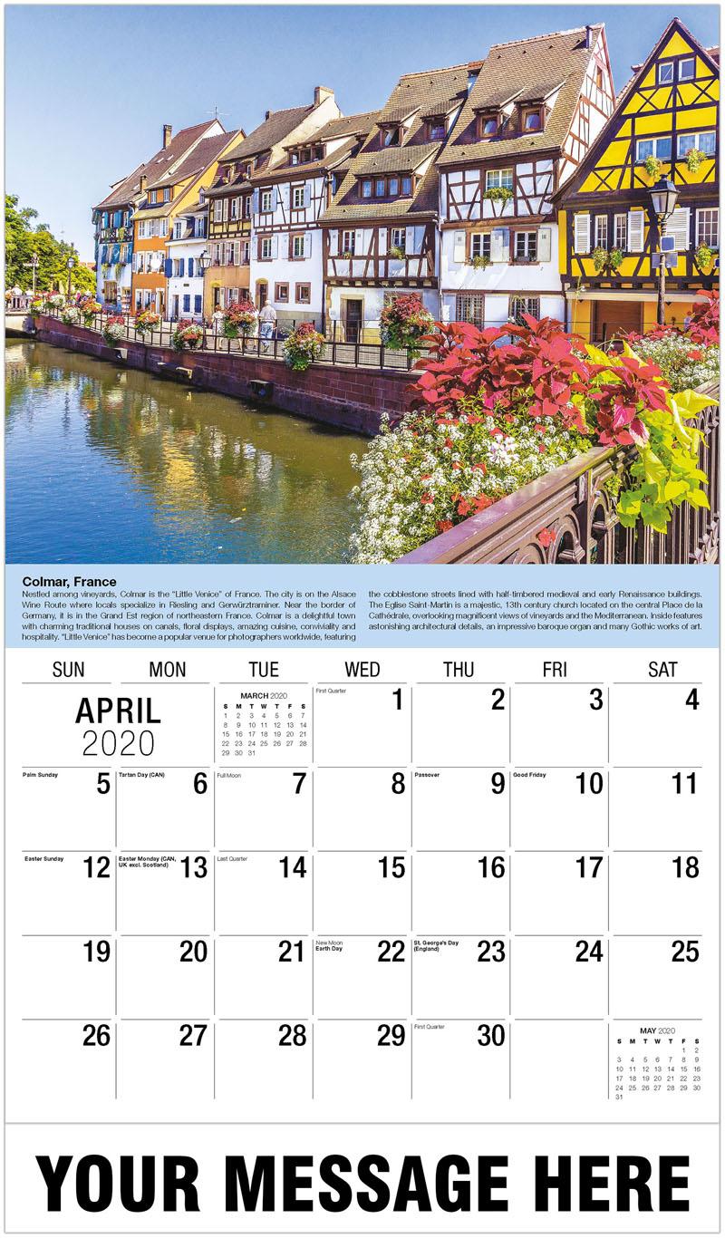2020 Promotional Calendar - Colmar, Alsace, France - April