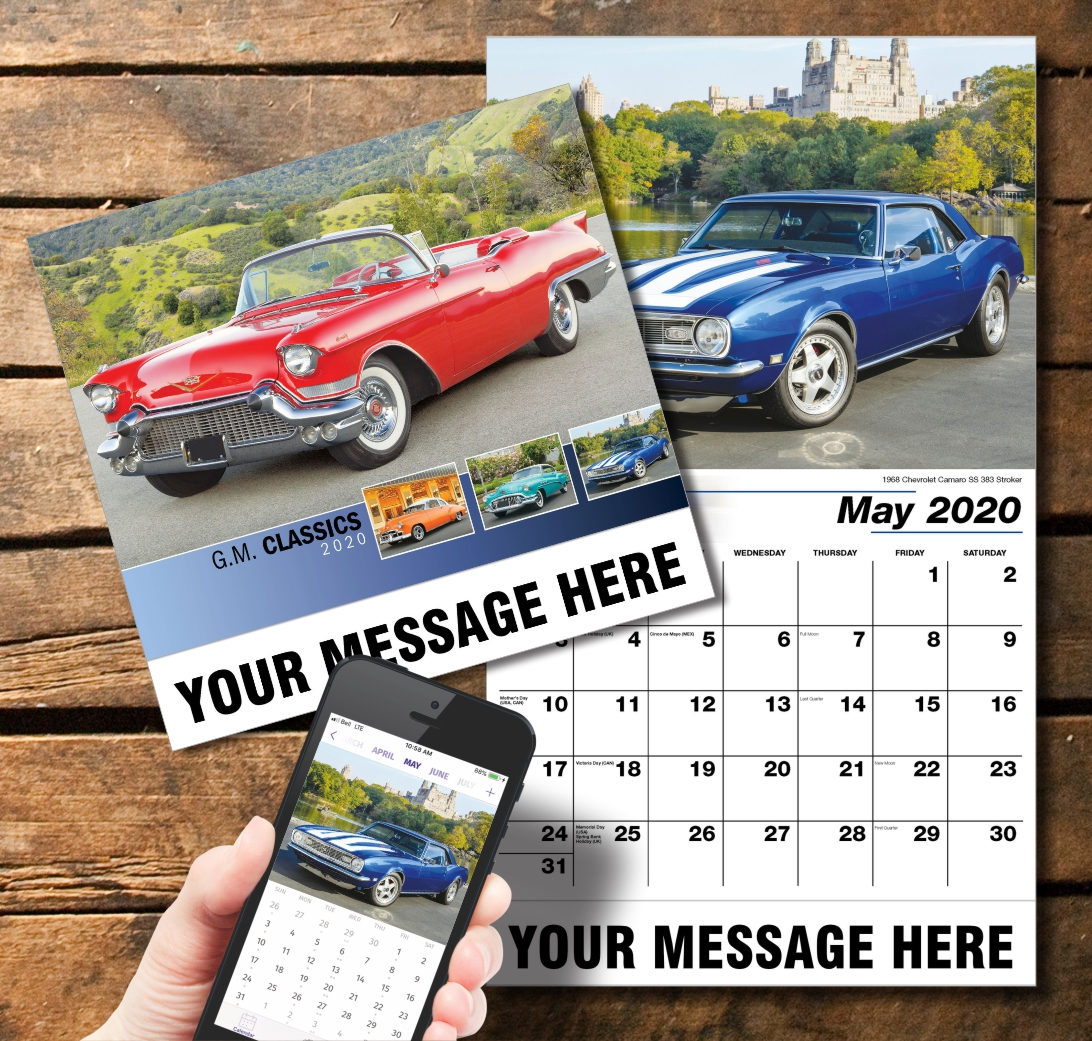2020 Business Promotion Calendar - GM Cars and PlumTree app