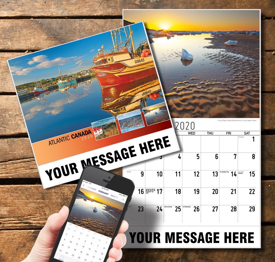2020 Business Promotion Calendar - Atlantic Canada and PlumTree app