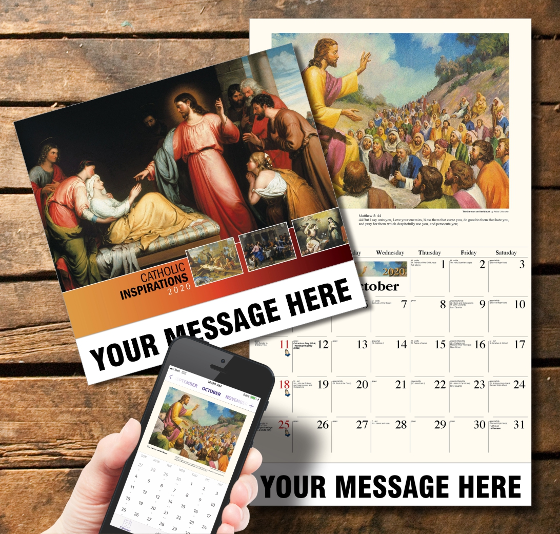 2020 Business Promotion Calendar - Catholic Inspirations and PlumTree app