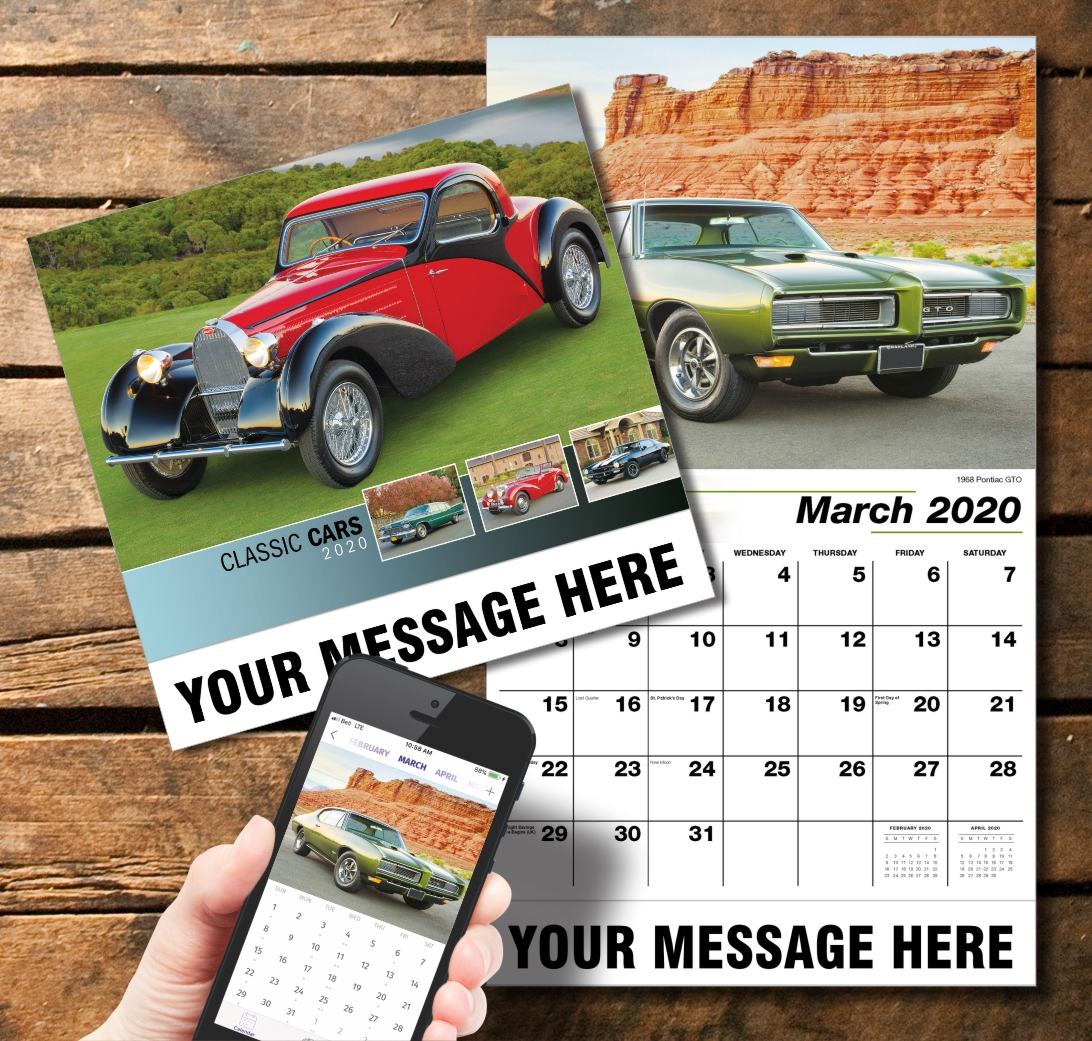 2020 Business Promotion Calendar - Classic Cars and PlumTree app